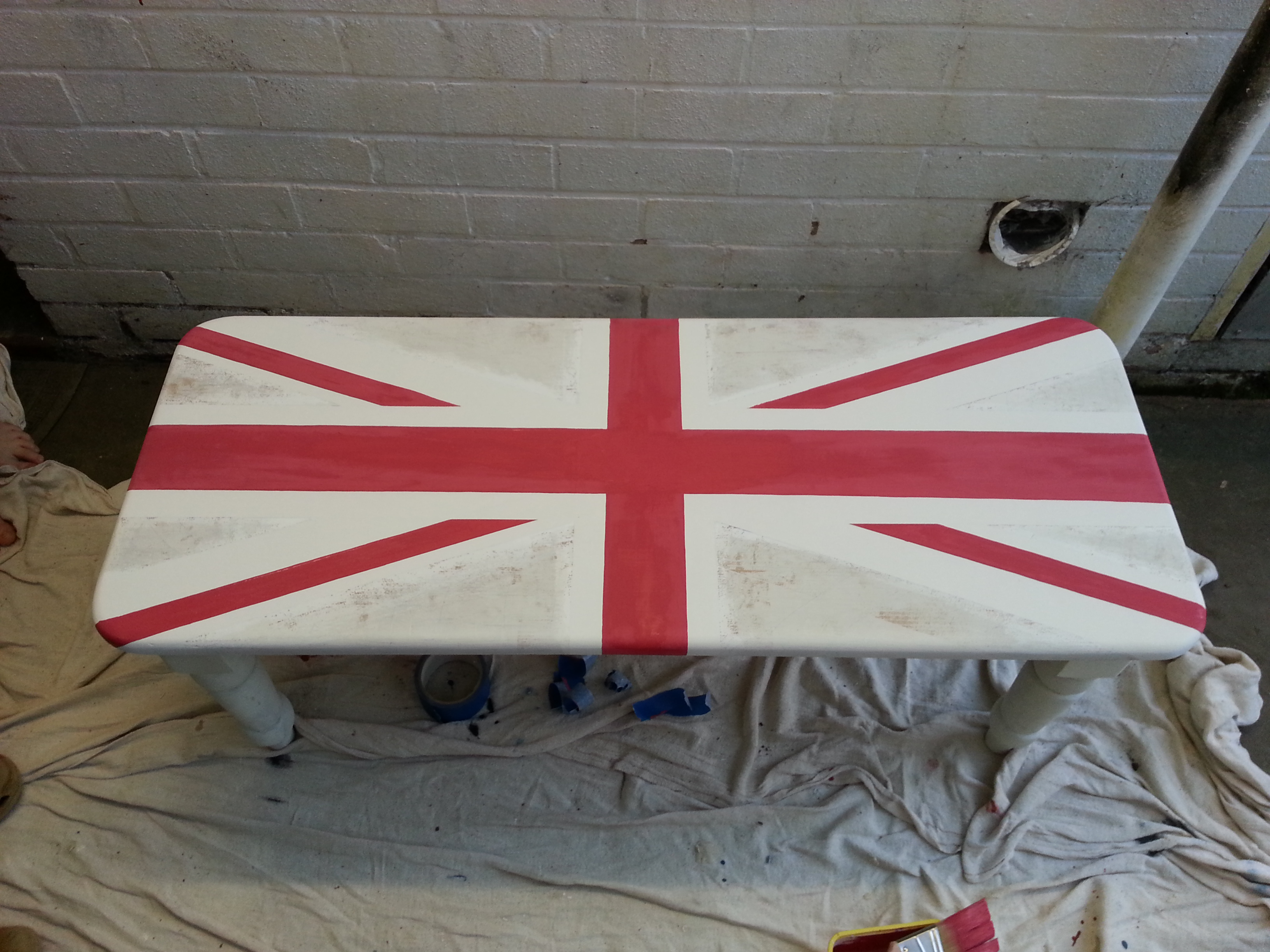 Union Jack Coffee Table Using Annie Sloan Paints
